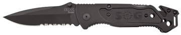 """Picture of S.O.G Ff25 Escape Folder 3.4"""" 9Cr18mov Stainless Clip Point 6061-T6 Anodized Alu"""