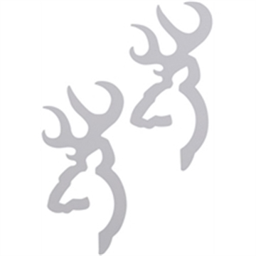 Picture of Spg Buckmark Flat Decal 2Pk White
