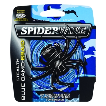 Picture of Spiderwire 15Lb Stealth Braided Line Blue Camo 200Yd Filler Spool Blue Camo