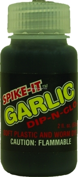 Picture of Spike-It 2Oz Dip-N-Glo Soft Plastic Lure Dye Black Garlic Scent