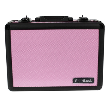 Picture of Sportlock Dbl Pistol Aluminum Case Pink