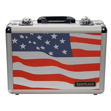 Picture of Sportlock Alumalock Case Double Handgun Usa Flag Scene