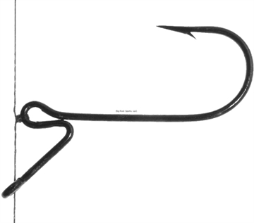 Picture of Standout Finesse Drop Shot Bass Hook, Size 6, Black Nickel, 9 Per Pack