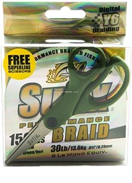 Picture of Sufix 40Lb Performance Braid Lo-Vis Green W/Promo Scissors