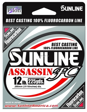 Picture of Sunline Assassin FC Fluorocarbon Line 15Lb Clear 225Yd