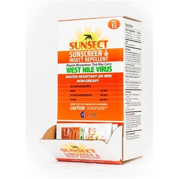 Picture of Sunsect Sunscreen + Insect Repellent Spf15 20% Deet .3Oz Foil Packs