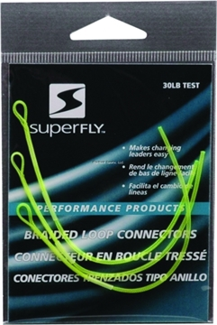Picture of Superfly Braided Leader Loops Connectors Chartreuse