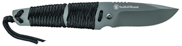 "Picture of S&W Knives Sw910tam Tanto Fixed 2.8"" 7Cr17mov SS With Paracord Blk"