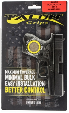 Picture of Talon 105M Glock 26/27/28/33/39 Gen 3 Rubber Adhesive Grip Textured Moss