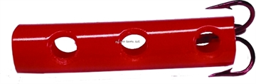 Picture of Team Catfish Dip Tube Hook, Size 6, Treble, Red, 2 Per Pack