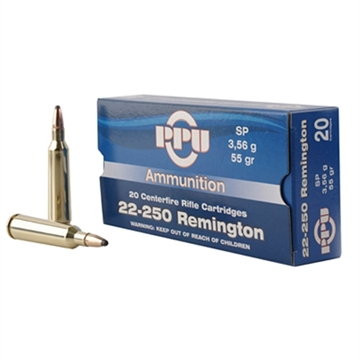 Picture of Ppu 22-250Rem SP 55Gr 20/200