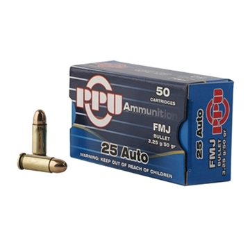 Picture of Ppu 25Acp Fmj 50Gr 50/1000