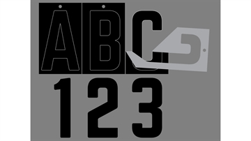 Picture of Transfer Monogram Company Aligning Blk Ltr B