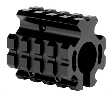 Picture of Trinity Force Corp Mn012l Quad Rail Gas Block Low Profile Steel/Aluminum