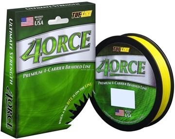 Picture of Tuf-Line 4Orce Braided Line 4-Carrier 10Lb 125Yd Yellow