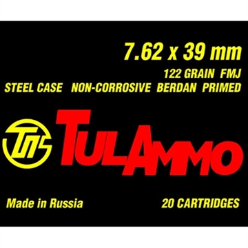 Picture of Tul 7.62X39 124Gr Fmj 20/Box