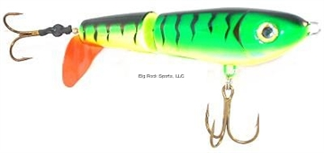 "Picture of Tyrant Crusader Top Water Prop Lure 6.5"", Wide Gap Short Shank 5/0 Hook, Firetiger"