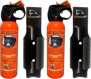 Picture of Udap Industries Inc 7.9 OZ Bear Sprays With Griz Guard Holsters (2-Pack)
