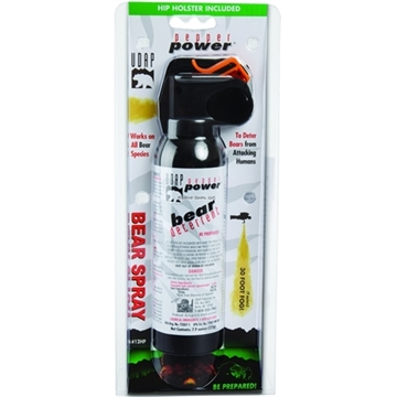 Picture of Udap Industries Inc Bear Spray W/Hip Holster, 30 FT Spray, 2% Crc, 7.9Oz, 225G
