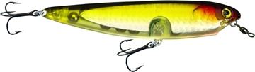 "Picture of Unfair Dawgwalker Walk The Dawg Bait, 4.33"", 1 Oz, 3X Hooks, Olive Redhead, Floating"