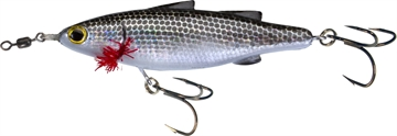 "Picture of Unfair Lures Paul's Dinkum Mullet Topwater Twitch/Glide Bait, 3.54"", 1/2 Oz, 3X Hooks, Pearl Black, Floating"
