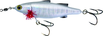 "Picture of Unfair Lures Paul's Dinkum Mullet Topwater Twitch/Glide Bait, 4.72"", 1 1/4 Oz, 3X Hooks, Liveglow White, Floating"