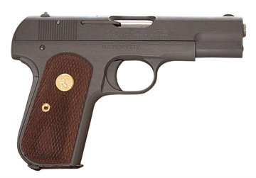 "Picture of Colt BY US Armament 1903B 1903 Hammerless  32 Automatic Colt Pistol (Acp) Single 3.75"" 8+1 Walnut Grip Blued Slide"