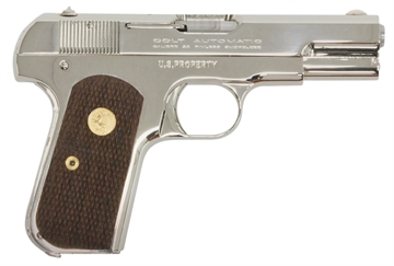 "Picture of Colt BY US Armament 1903N 1903 Hammerless  32 Automatic Colt Pistol (Acp) Single 3.75"" 8+1 Walnut Grip Nickel Slide"