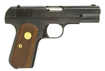 "Picture of Colt BY US Armament 1903Rb 1903 Hammerless  32 Automatic Colt Pistol (Acp) Single 3.75"" 8+1 Walnut Grip Royal Blue Slide"