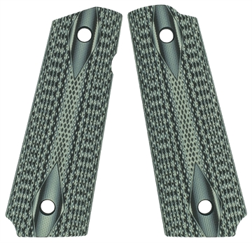 Picture of VZ Grips Ddbgxa 1911 Double Diamond Grip Panels Diamond Texture G10 Black/Gray