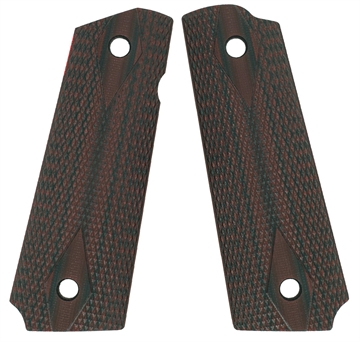 Picture of VZ Grips Ddcxa 1911 Double Diamond Grip Panels Diamond Texture G10 Black/Cherry