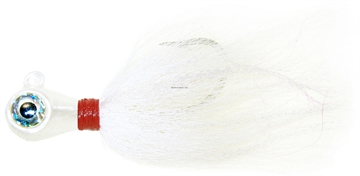 Picture of Wahoo Big Eye Jig 3Oz Wht Hand-Tied Bucktail W/Accentflash XL 3D Eyes