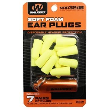 Picture of Walker's 7Pk Yel Foam Plug W/Case