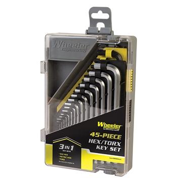 Picture of Wheeler 45 Piece Sae/Metric/Hex/Torx Key Set