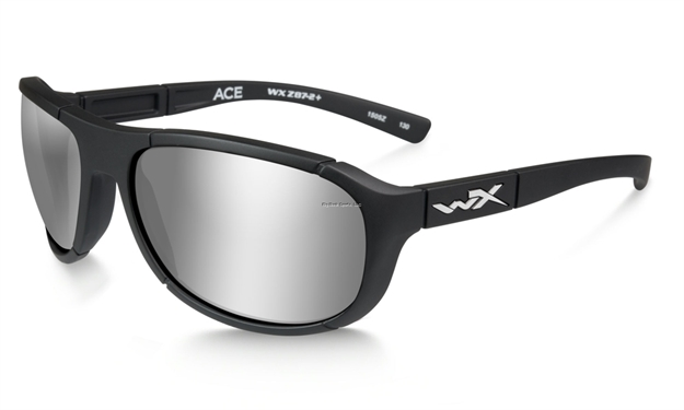 c00158d9a2 Picture of Wiley X Ace Sunglasses - Polarized Silver Flash Lens Matte Black  Frame