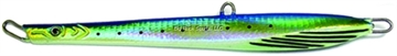 "Picture of Williamson Abyss Speed Jig, 5"", 2 Oz, 7/0 Assist Hook, Blue/Yellow, Sinking"