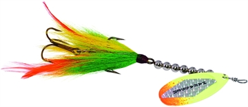 """Picture of Windels Muskie Harasser Bucktail Spinner, 7"""", Perch/Flame"""