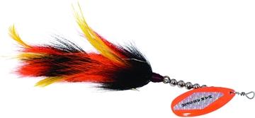 """Picture of Windels Muskie Harasser Bucktail Spinner, 9"""", Black/Orange"""