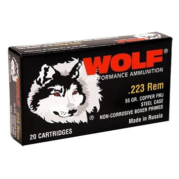 Picture of Wolf 22355Fmjtins Polyformance Rifle 223 Remington/5.56 Nato 55 GR Full Metal Jacket 20 Bx/ 25 CS 500 Total (Military Tin)