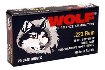 Picture of Wolf 22355Hp Polyformance Rifle 223 Remington/5.56 Nato 55 GR Hollow Point 20 Bx/ 25 CS 500 Total (Case)