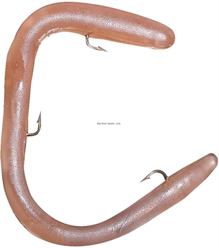 """Picture of Worm Factory Magnum Regular Rigged Worm, 8"""", Natural, Floating"""