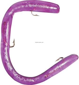 """Picture of Worm Factory Magnum Regular Rigged Worm, 8"""", Purple, Floating"""