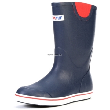 """Picture of Xtratuf 12""""  Full Rubber Deck Boot - Size 11 - Navy/Red"""