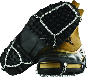 Picture of Yaktrax Diamond Grip With Case Hardened Steel, Aircraft-Grade Steel Cable, Black, Size Small, Fits W 5-7, M 5-6