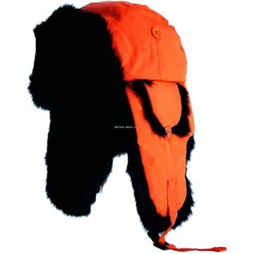Picture of Yukon Alaskan Hat Blaze Orange W/Black Fur Large