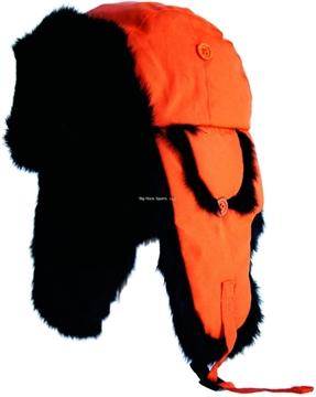 Picture of Yukon Alaskan Hat Blaze Orange W/Black Fur XL