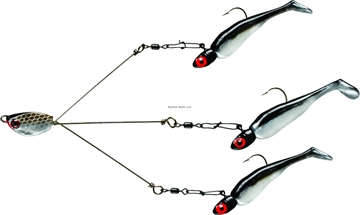 Picture of Yum  Brella Ultralight Tripod 3-Wire Fishing Rig, 1/16 Oz, Money Fry Pearl/Black, Floating
