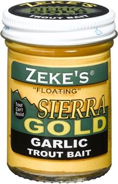 Picture of Zeke's Sierra Gold Floating Trout Bait, Jar, Garlic/Yellow Glitter