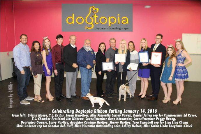 Dogtopia Ribbon cutting event 14 January, 2014