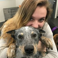 Alyssa with Chief the Australian Cattledog